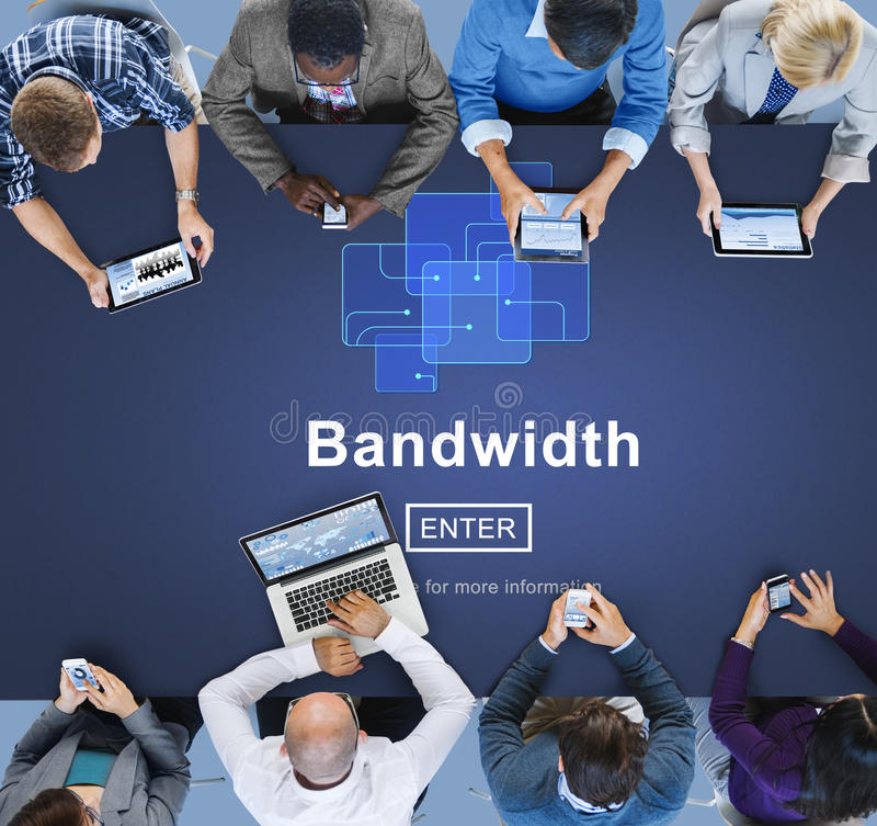Bandwidth Szerokopasmowy Komputerowy Ewidencyjny pojęcie obraz royalty free