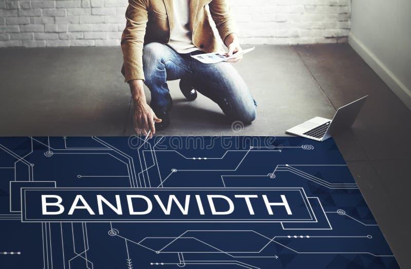 Bandwidth technologii Internetowy Online Podłączeniowy pojęcie zdjęcie stock