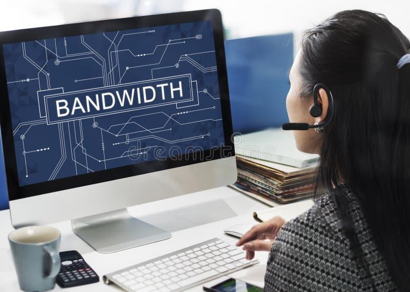 Bandwidth technologii Internetowy Online Podłączeniowy pojęcie fotografia stock
