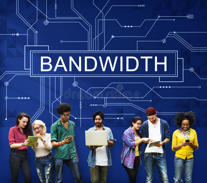 Bandwidth technologii Internetowy Online Podłączeniowy pojęcie obrazy stock