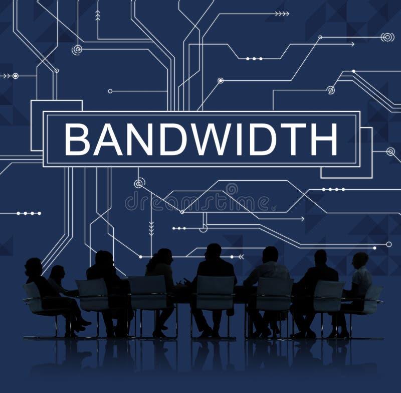 Bandwidth technologii Internetowy Online Podłączeniowy pojęcie obraz royalty free