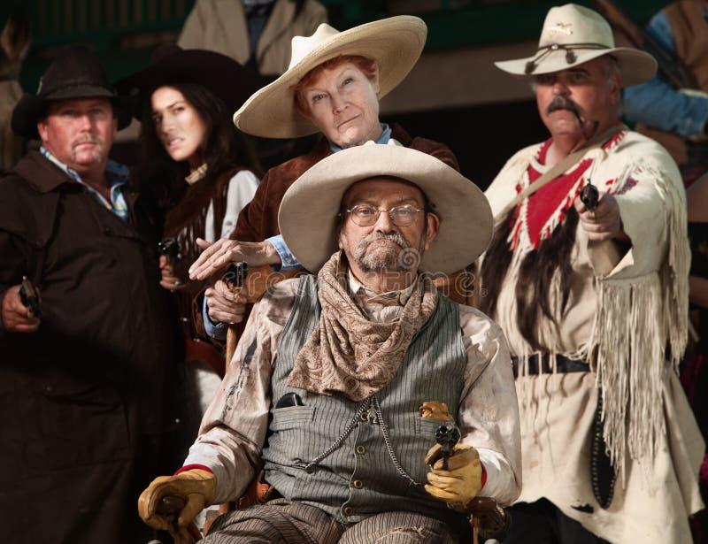 bandyckiego gangu stary zachód zdjęcia royalty free