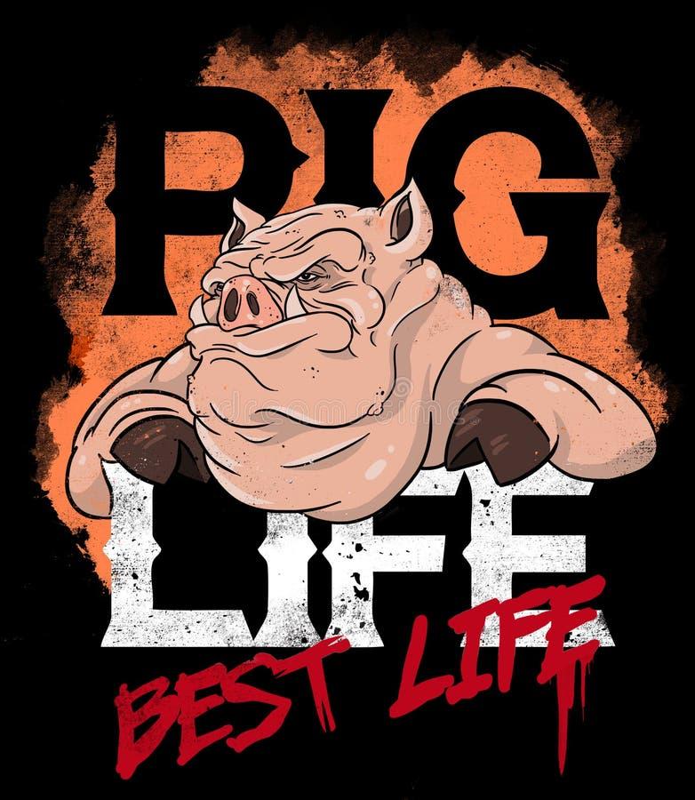 Bandyta świni ilustracja zdjęcia royalty free