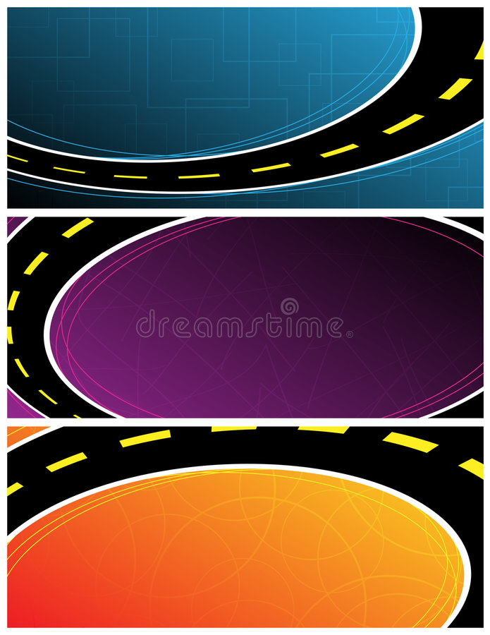 baner stock illustrationer