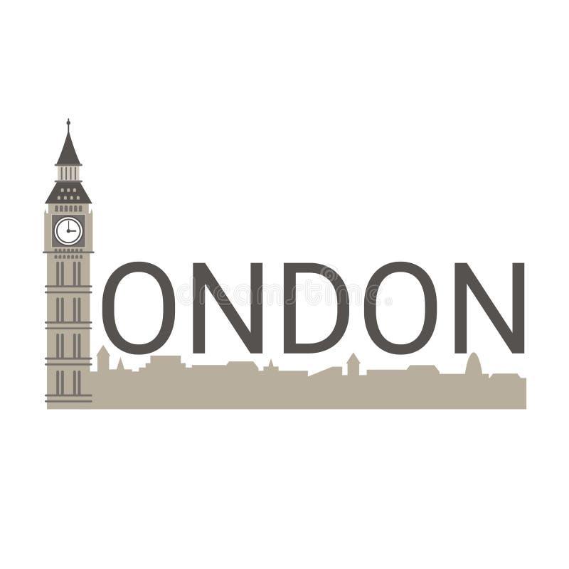 Baner av den London staden royaltyfri illustrationer