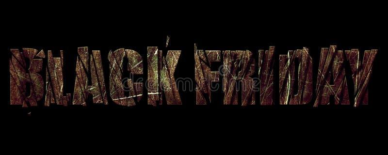 Baner Black Friday på metalltextur vektor illustrationer
