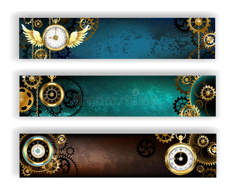 baner clock tre stock illustrationer