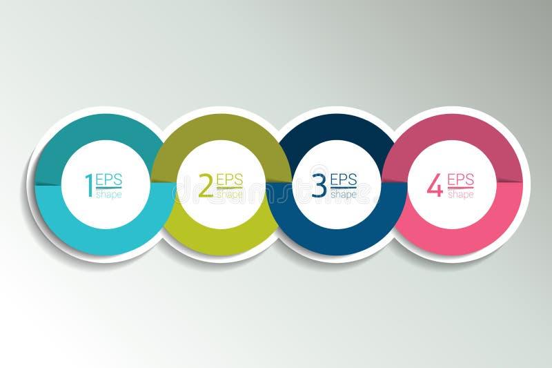 baner för 4 affärsbeståndsdelar, mall 4 moment planlägger, kartlägger, infographic steg-för-steg nummeralternativ, orientering vektor illustrationer