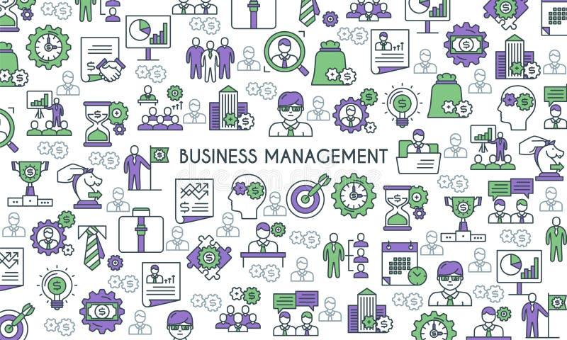 Baner för affärsledning stock illustrationer