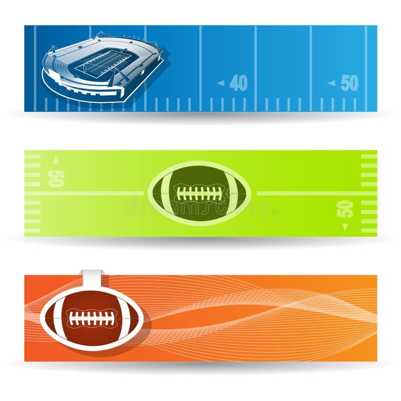 Baner för amerikansk fotboll stock illustrationer