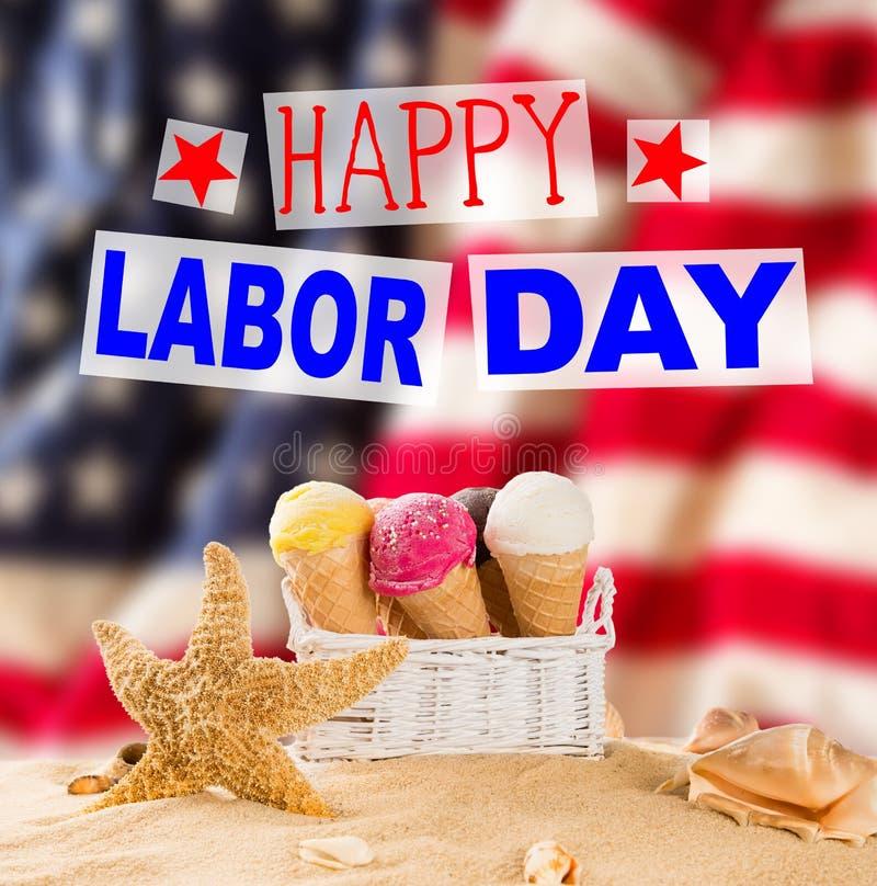 Baner för arbets- dag, patriotisk bakgrund royaltyfri bild