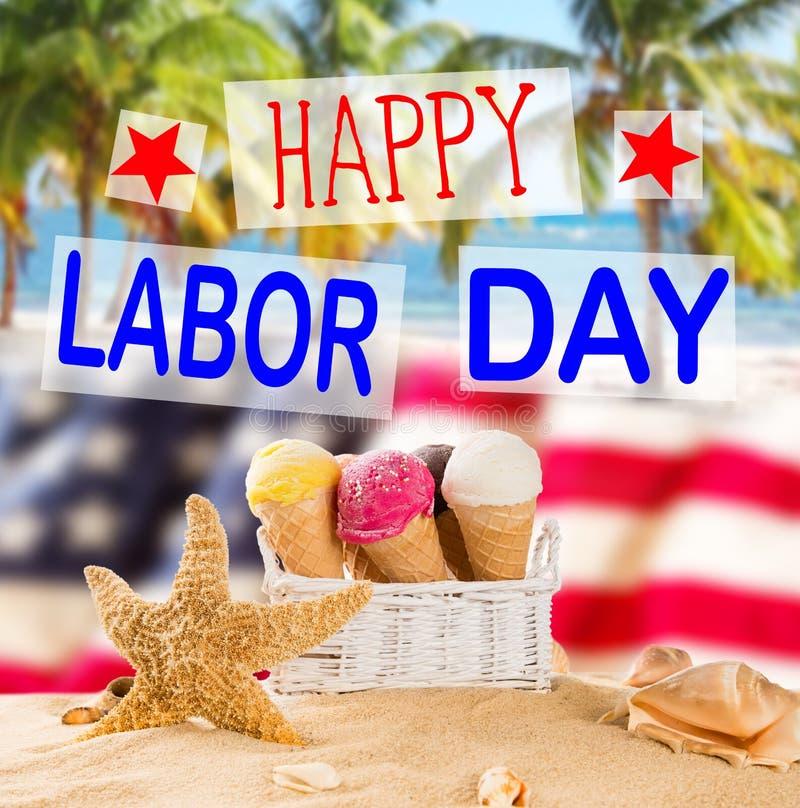 Baner för arbets- dag, patriotisk bakgrund royaltyfri fotografi