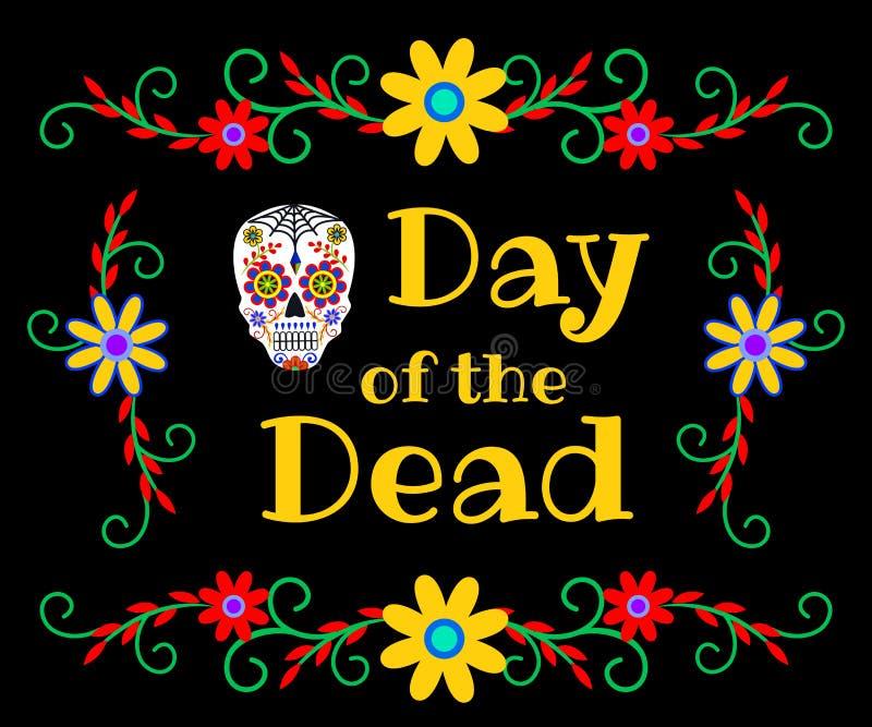 Baner för dagen av dödaen vektor illustrationer