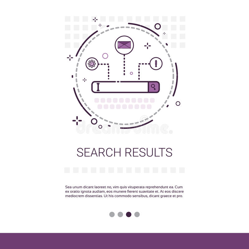 Baner för data för sökanderesultatrengöringsduk med kopieringsutrymme vektor illustrationer