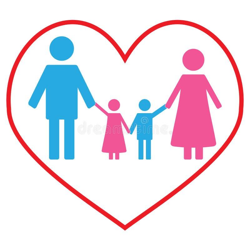 Baner för förälskelsefamiljbegrepp stock illustrationer