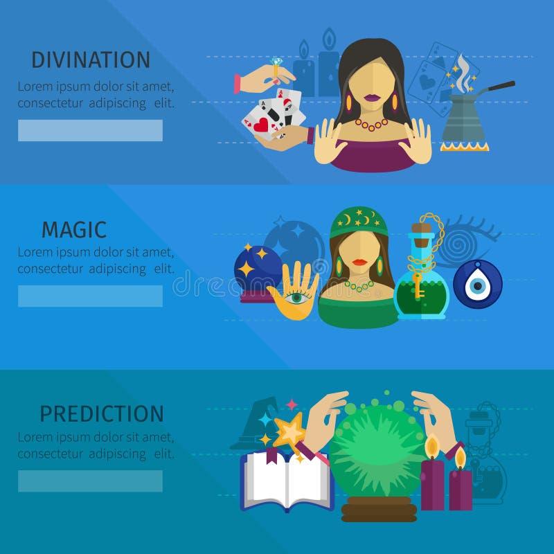 Baner för förmögenhetkassör royaltyfri illustrationer