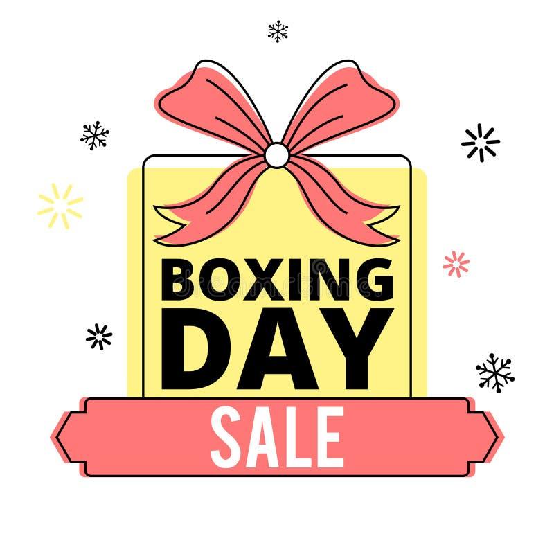 Baner för försäljning för boxningdag royaltyfri illustrationer