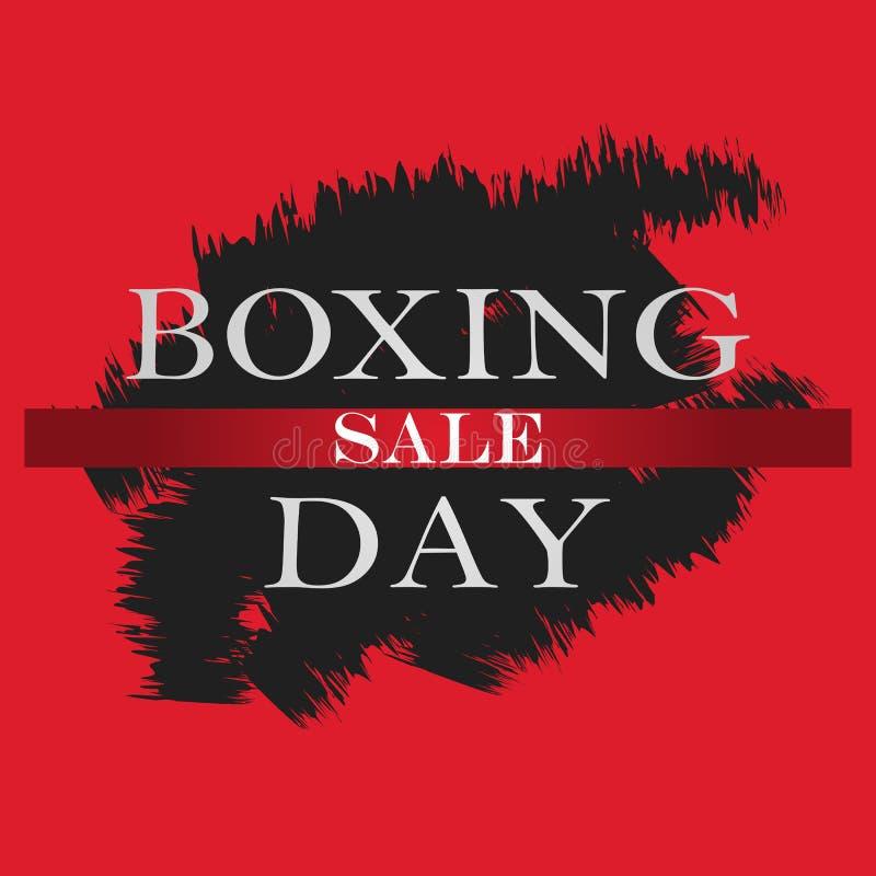 Baner för försäljning för boxningdag Mall för design för boxningdag för banret, reklamblad också vektor för coreldrawillustration stock illustrationer