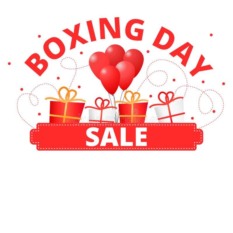Baner för försäljning för boxningdag rött stock illustrationer