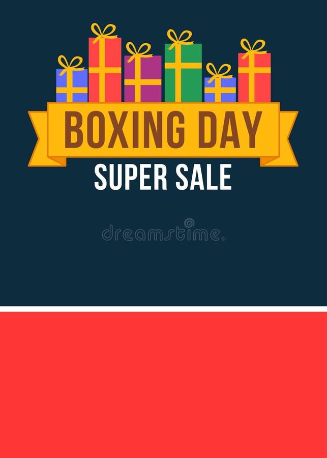 Baner för försäljning för boxningdag toppet vektor illustrationer