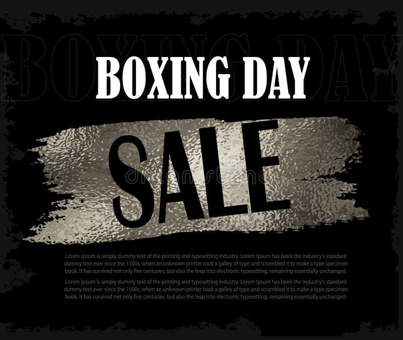 Baner för försäljning för boxningdag stock illustrationer
