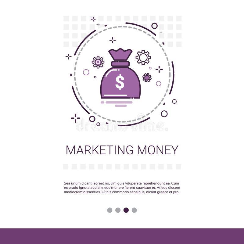 Baner för idé för affär för pengarmarknadsföringsvision med kopieringsutrymme vektor illustrationer