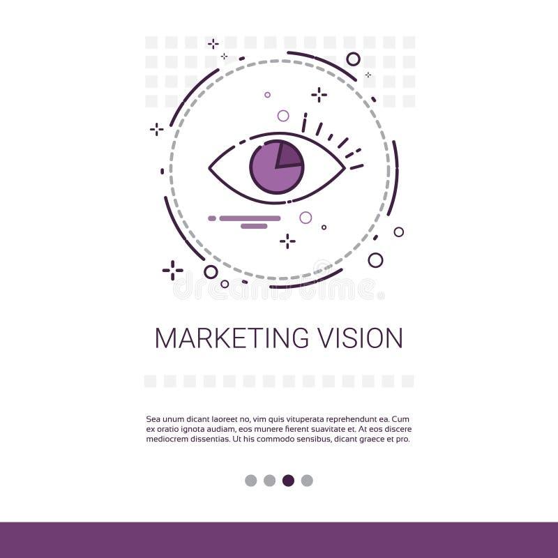 Baner för idé för marknadsföringsvisionaffär med kopieringsutrymme stock illustrationer