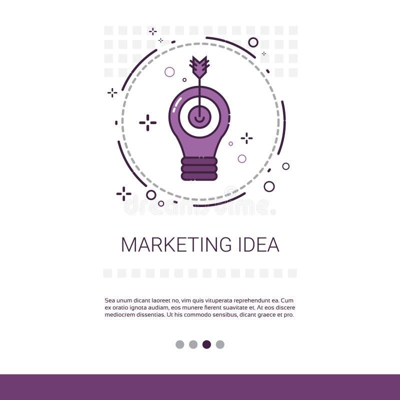 Baner för idé för marknadsföringsvisionaffär med kopieringsutrymme vektor illustrationer