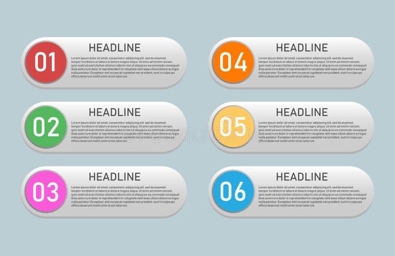 Baner för Infographic mallalternativ för affär royaltyfri illustrationer