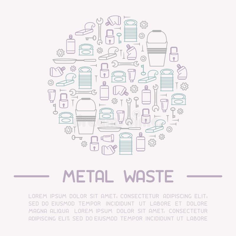 Baner för information om metallavfalls stock illustrationer