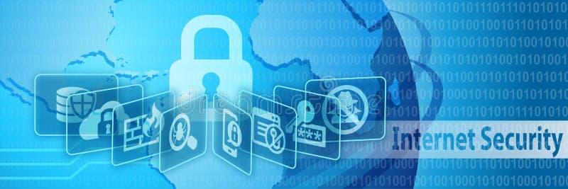 Baner för internetsäkerhetsskydd stock illustrationer