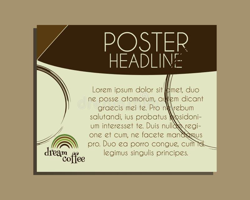 Baner för kaffemärkesidentitet Nytt grillat och vektor illustrationer