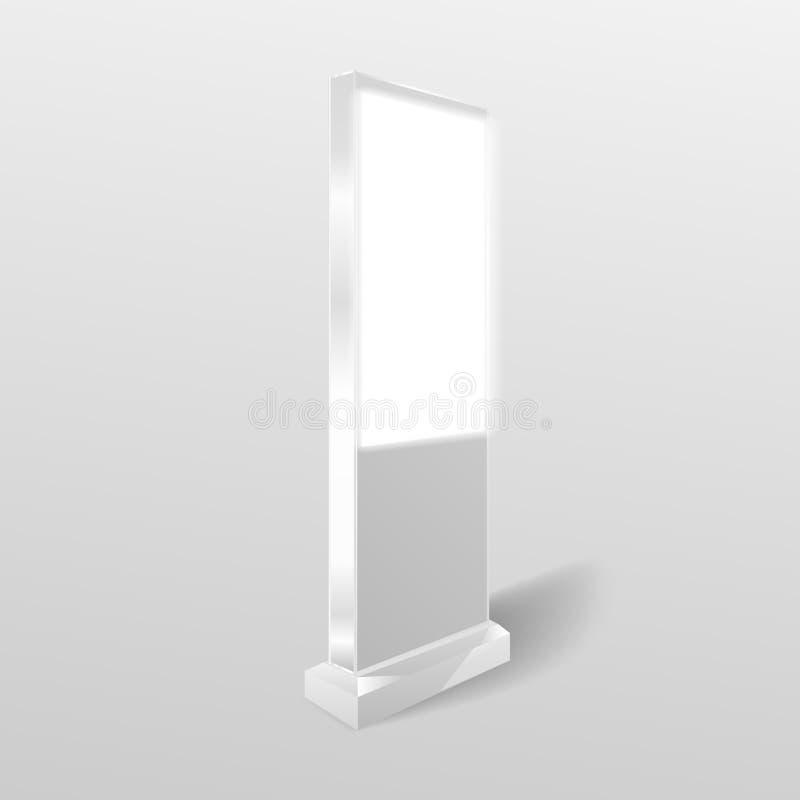 Baner för mall för stadsljusaffischtavla isolerad white f?r bakgrundscogwheel illustration stock illustrationer