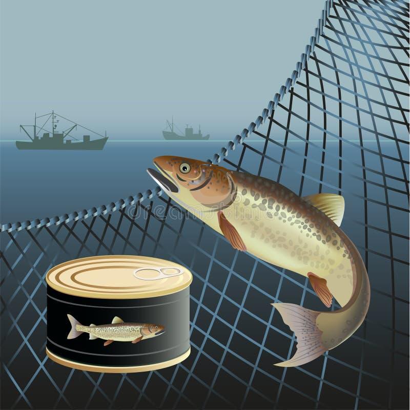 Baner för marin- produkter royaltyfri illustrationer