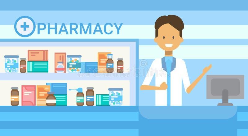 Baner för nätverk för medicin för service för sjukhus för doktor Health Care Clinics apotekonline-för medicinsk konsultation royaltyfri illustrationer