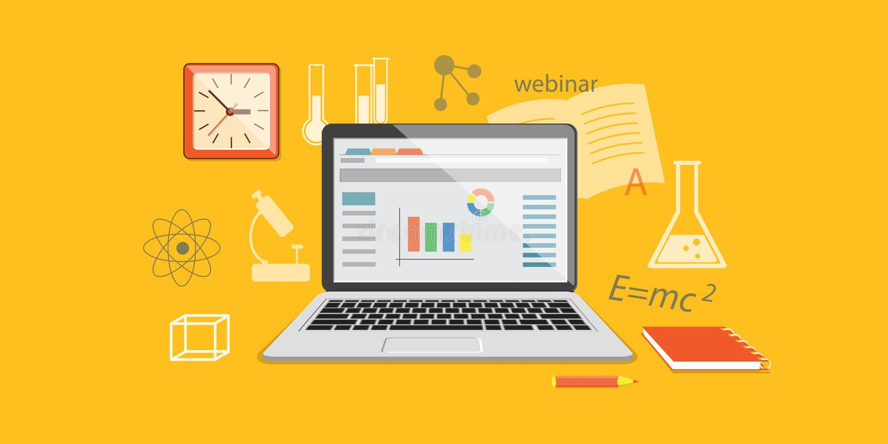 Baner för online-utbildningsplats vektor illustrationer