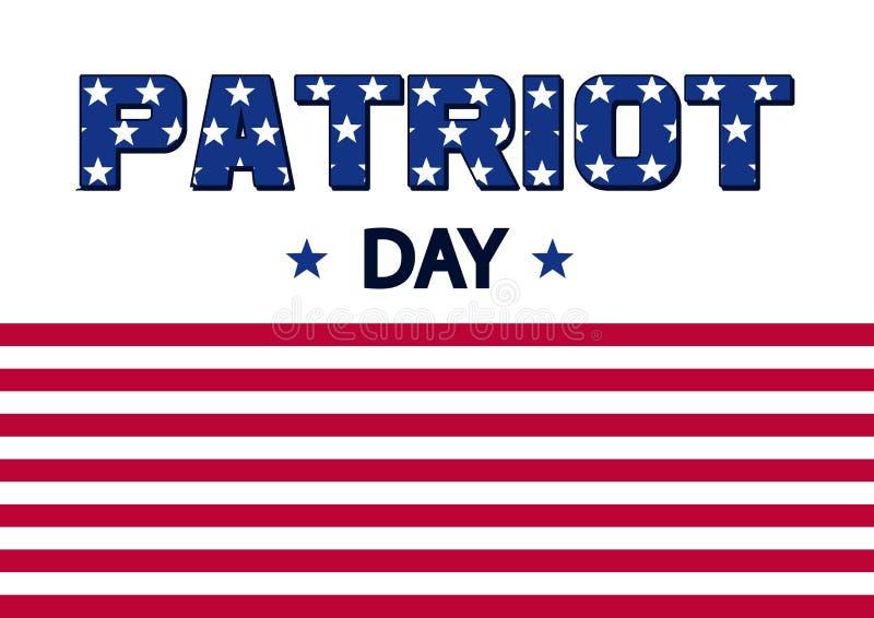 Baner för patriotdag flagga USA vektor stock illustrationer