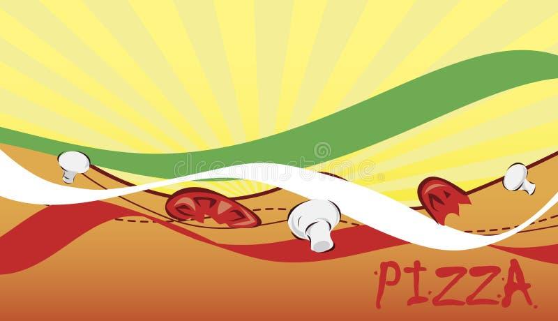 Baner för pizzeria vektor illustrationer