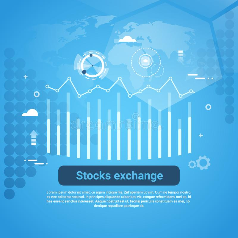 Baner för rengöringsduk för börsbegreppsaffär med kopieringsutrymme royaltyfri illustrationer