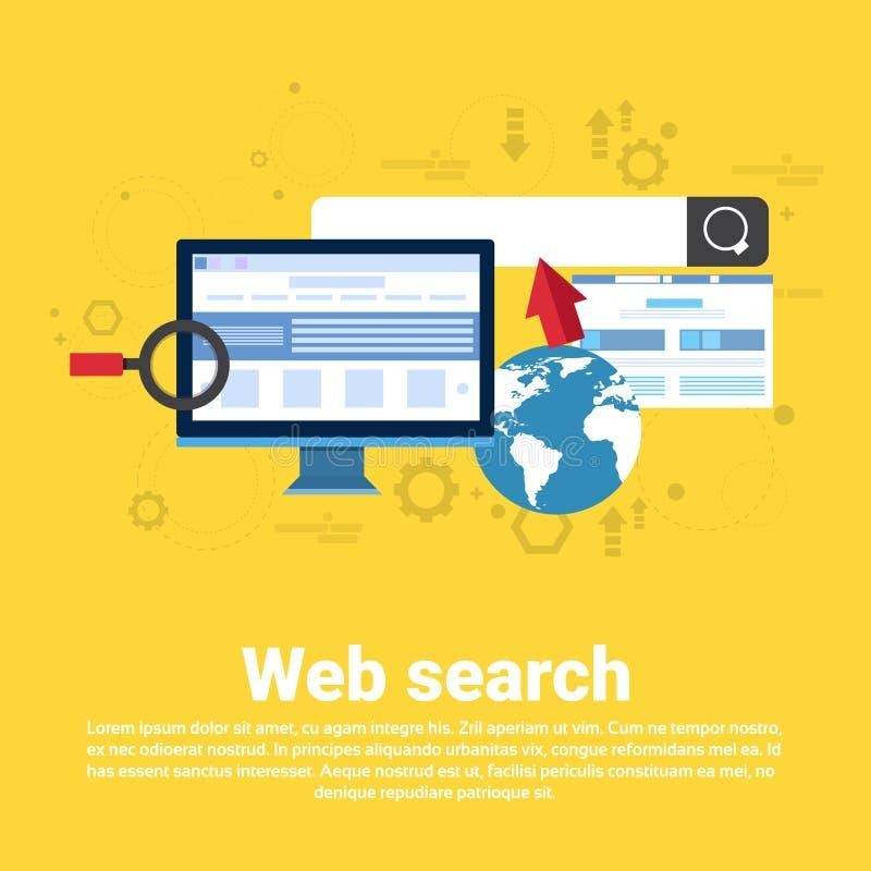 Baner för rengöringsduk för affär för informationsteknik om Digitalt innehåll för rengöringsduksökande stock illustrationer