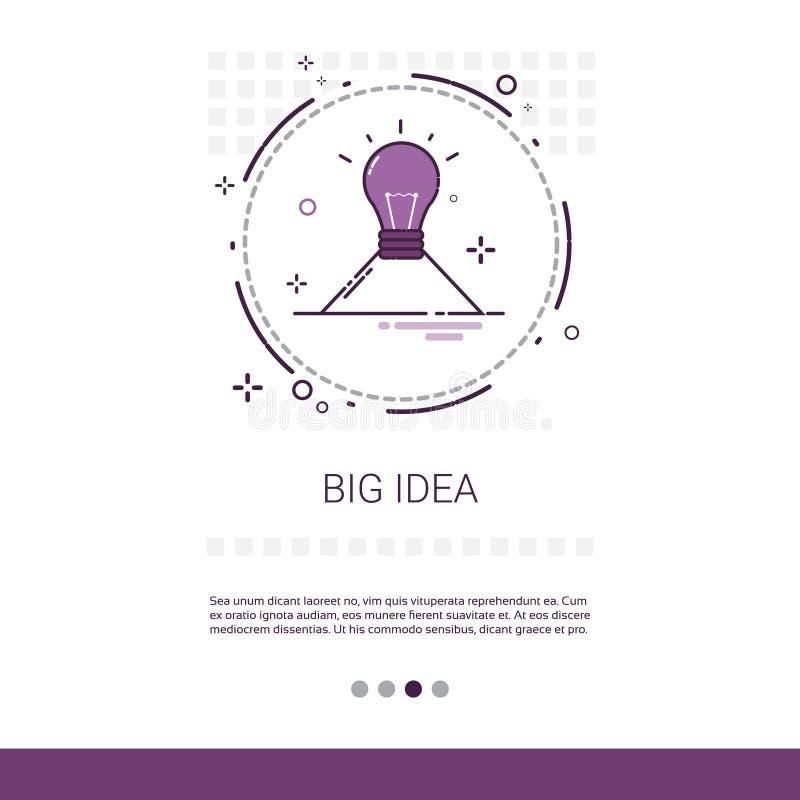 Baner för rengöringsduk för affär för process för stor ny idéinspiration idérikt med kopieringsutrymme stock illustrationer