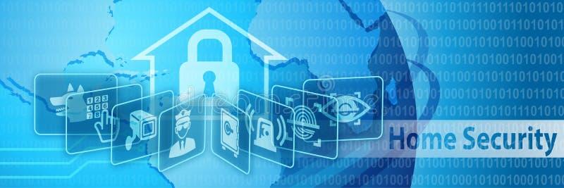 Baner för skydd för hem- säkerhet royaltyfri illustrationer