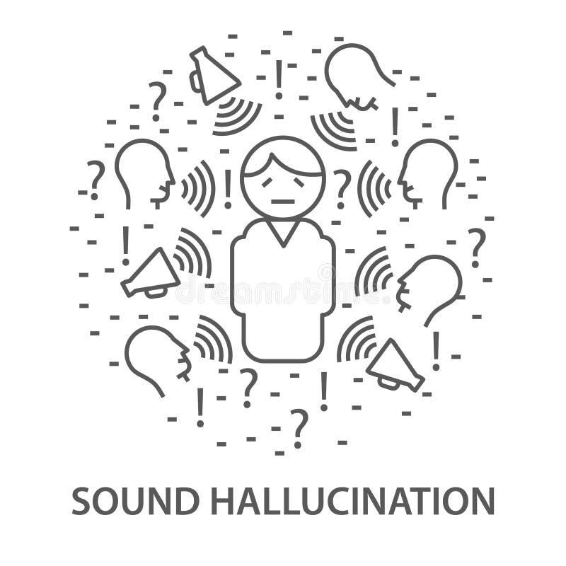 Baner för solid hallucination stock illustrationer