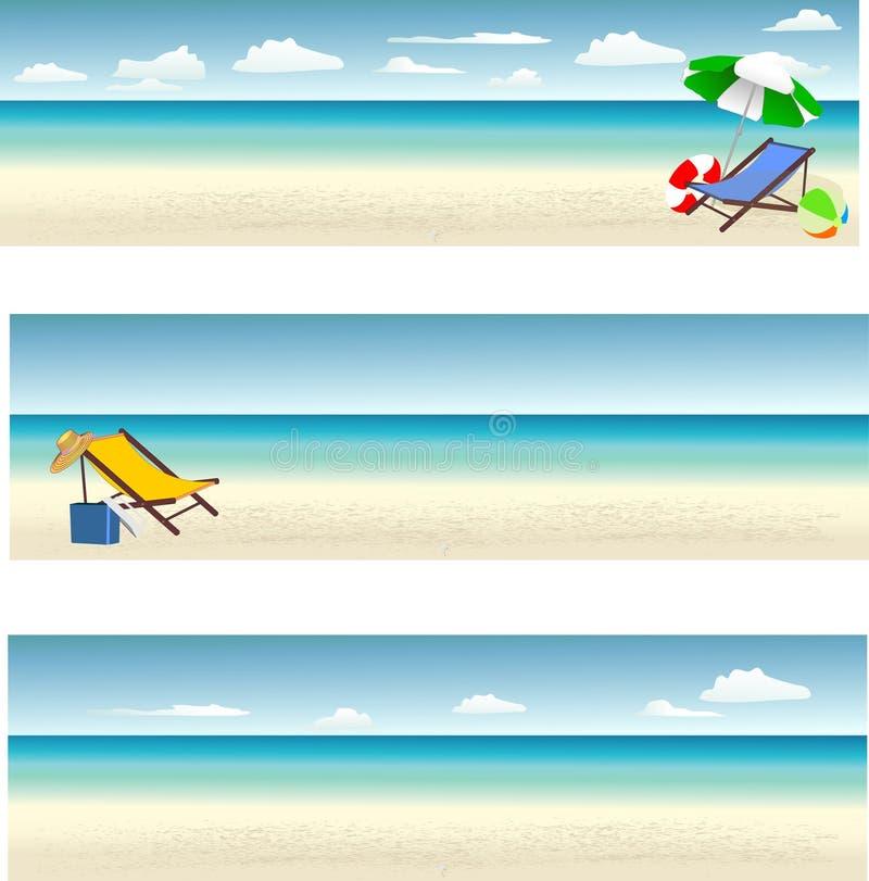 Baner för sommarferie stock illustrationer