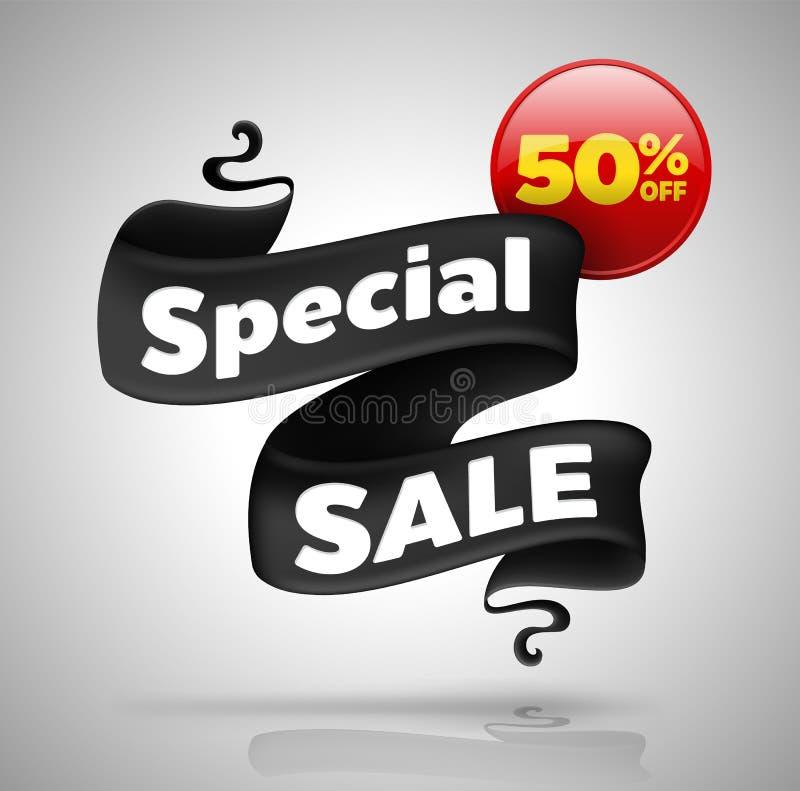 Baner för special försäljning femtio procent av royaltyfri illustrationer