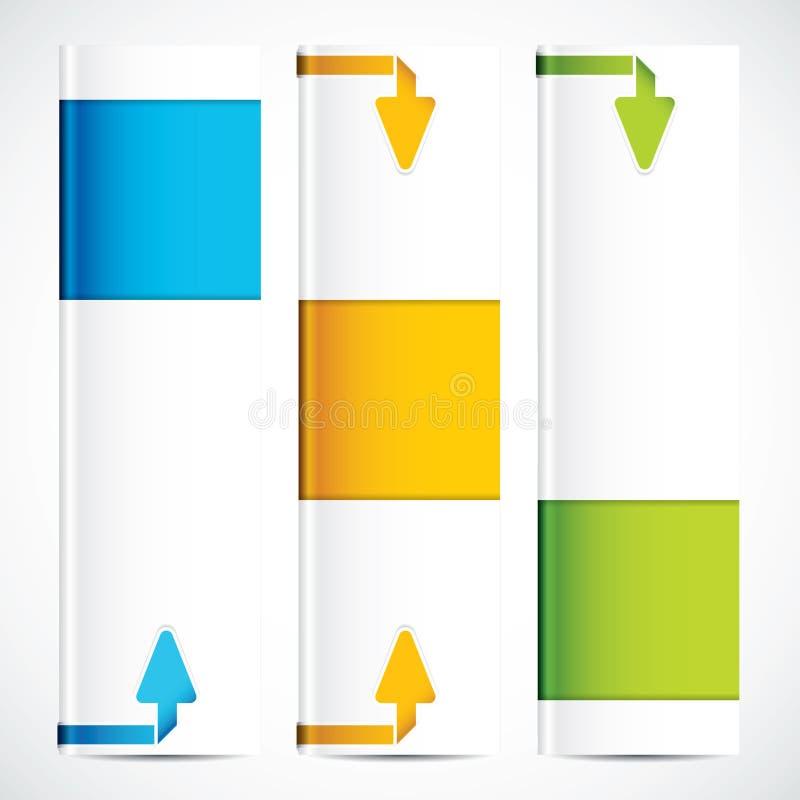 Baner för tre universal royaltyfri illustrationer