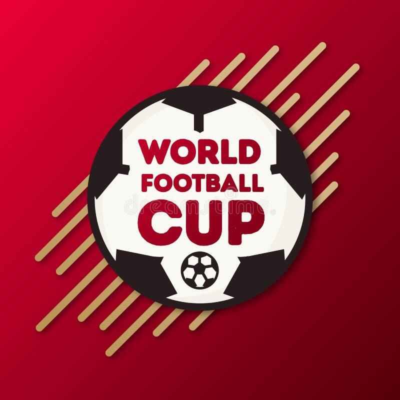 Baner för turnering för värld för fotboll för kopp för vektorvärldsfotboll vektor illustrationer