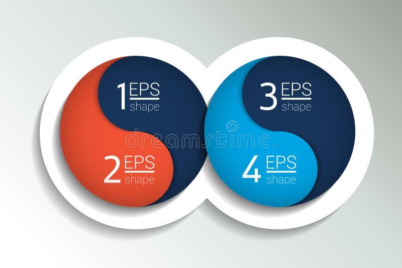 Baner för två affärsbeståndsdelar, mall royaltyfri illustrationer
