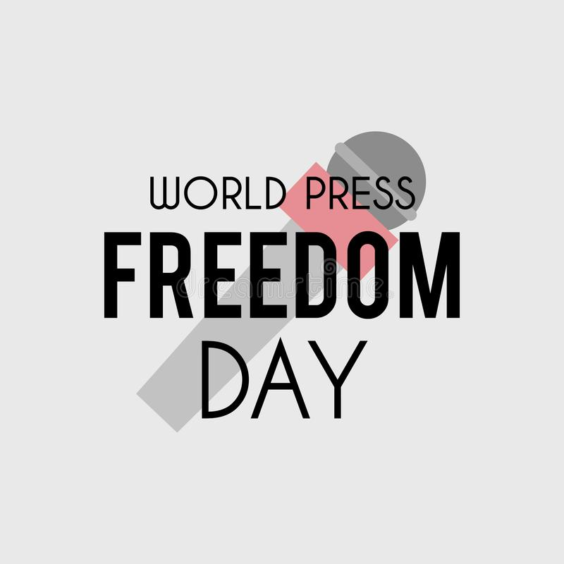 Baner för världstryckfrihetdag stock illustrationer