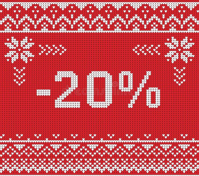 Baner för vinterförsäljningsrabatt, stucken bakgrundsmodell royaltyfri foto